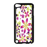 Star Flower Purple Pink Apple iPod Touch 5 Case (Black)