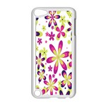 Star Flower Purple Pink Apple iPod Touch 5 Case (White)
