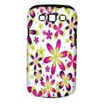 Star Flower Purple Pink Samsung Galaxy S III Classic Hardshell Case (PC+Silicone)