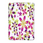Star Flower Purple Pink Apple iPad Mini Hardshell Case (Compatible with Smart Cover)
