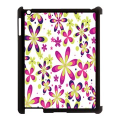 Star Flower Purple Pink Apple Ipad 3/4 Case (black) by Mariart