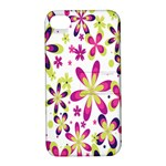 Star Flower Purple Pink Apple iPhone 4/4S Hardshell Case with Stand