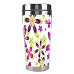 Star Flower Purple Pink Stainless Steel Travel Tumblers