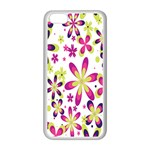 Star Flower Purple Pink Apple iPhone 5C Seamless Case (White)