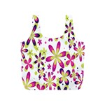 Star Flower Purple Pink Full Print Recycle Bags (S)