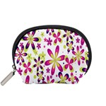 Star Flower Purple Pink Accessory Pouches (Small)