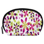 Star Flower Purple Pink Accessory Pouches (Large)