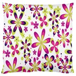 Star Flower Purple Pink Large Flano Cushion Case (One Side)