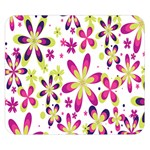 Star Flower Purple Pink Double Sided Flano Blanket (Small)