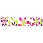 Star Flower Purple Pink Flano Scarf (Small)