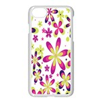 Star Flower Purple Pink Apple iPhone 7 Seamless Case (White)