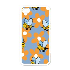 Wasp Bee Honey Flower Floral Star Orange Yellow Gray Apple Iphone 4 Case (white) by Mariart