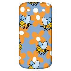 Wasp Bee Honey Flower Floral Star Orange Yellow Gray Samsung Galaxy S3 S Iii Classic Hardshell Back Case by Mariart