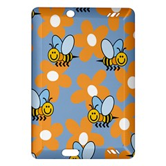 Wasp Bee Honey Flower Floral Star Orange Yellow Gray Amazon Kindle Fire Hd (2013) Hardshell Case by Mariart