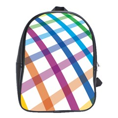 Webbing Line Color Rainbow School Bags(large)  by Mariart