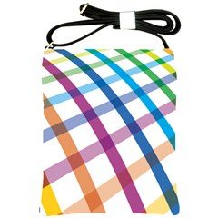 Webbing Line Color Rainbow Shoulder Sling Bags by Mariart