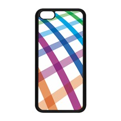Webbing Line Color Rainbow Apple Iphone 5c Seamless Case (black) by Mariart