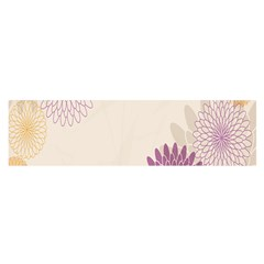 Star Sunflower Floral Grey Purple Orange Satin Scarf (oblong) by Mariart