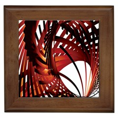 Webbing Red Framed Tiles by Mariart