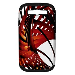 Webbing Red Samsung Galaxy S Iii Hardshell Case (pc+silicone) by Mariart