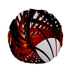 Webbing Red Standard 15  Premium Round Cushions by Mariart