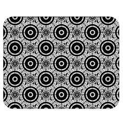 Geometric Black And White Double Sided Flano Blanket (medium)  by linceazul