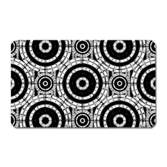 Geometric Black And White Magnet (rectangular) by linceazul