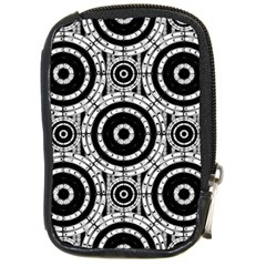 Geometric Black And White Compact Camera Cases by linceazul