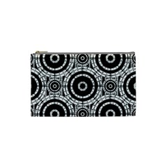 Geometric Black And White Cosmetic Bag (small)  by linceazul