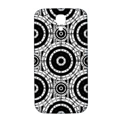 Geometric Black And White Samsung Galaxy S4 I9500/i9505  Hardshell Back Case by linceazul