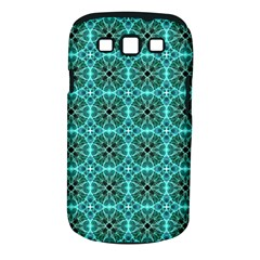 Turquoise Damask Pattern Samsung Galaxy S Iii Classic Hardshell Case (pc+silicone) by linceazul
