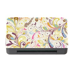 Colorful Seamless Floral Background Memory Card Reader With Cf by TastefulDesigns