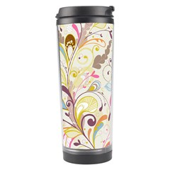 Colorful Seamless Floral Background Travel Tumbler by TastefulDesigns