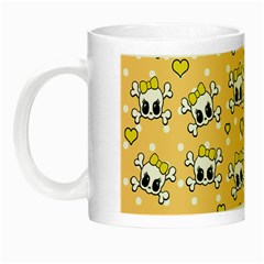 Cute Skull Night Luminous Mugs by Valentinaart