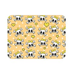 Cute Skull Double Sided Flano Blanket (mini)  by Valentinaart