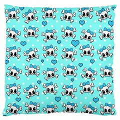 Cute Skull Large Flano Cushion Case (one Side) by Valentinaart