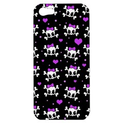 Cute Skull Apple Iphone 5 Hardshell Case by Valentinaart