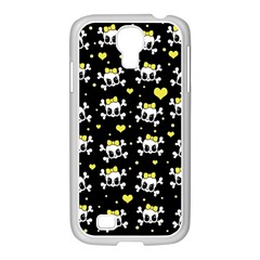 Cute Skull Samsung Galaxy S4 I9500/ I9505 Case (white) by Valentinaart