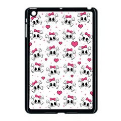 Cute Skull Apple Ipad Mini Case (black) by Valentinaart