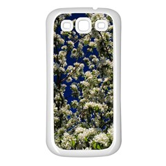 Floral Skies Samsung Galaxy S3 Back Case (white) by dawnsiegler