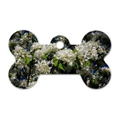 Floral Skies 2 Dog Tag Bone (two Sides) by dawnsiegler