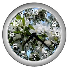 Pure And Simple 2 Wall Clocks (silver)  by dawnsiegler