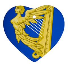 Coat Of Arms Of Ireland, 17th Century To The Foundation Of Irish Free State Heart Ornament (two Sides) by abbeyz71