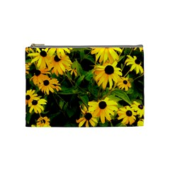 Walking Through Sunshine Cosmetic Bag (medium)  by dawnsiegler