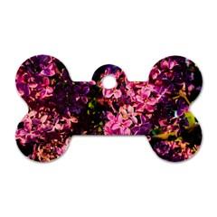 Lilacs Dog Tag Bone (one Side) by dawnsiegler