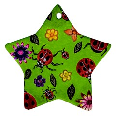 Lucky Ladies Star Ornament (two Sides) by dawnsiegler