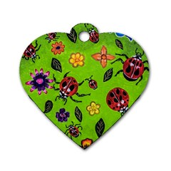 Lucky Ladies Dog Tag Heart (two Sides) by dawnsiegler