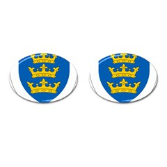 Lordship Of Ireland Coat Of Arms, 1177 1542 Cufflinks (oval) by abbeyz71