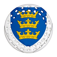 Lordship Of Ireland Coat Of Arms, 1177 1542 Ornament (round Filigree) by abbeyz71