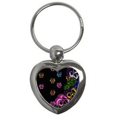 Floral Rhapsody Pt 1 Key Chains (heart)  by dawnsiegler